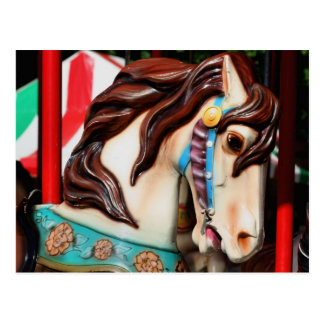 Silent Steed Carousel Horse Photo Postcard