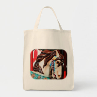 Silent Steed Carousel Horse Tote Bag