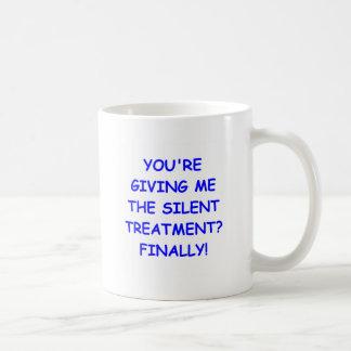 silent treatment coffee mug