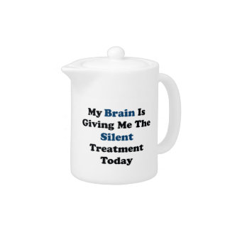 Silent Treatment Teapot