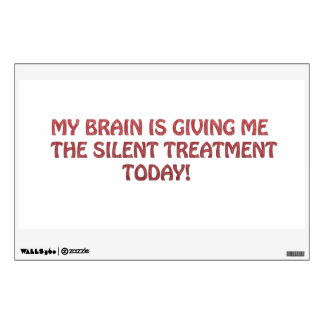 Silent treatment wall decal