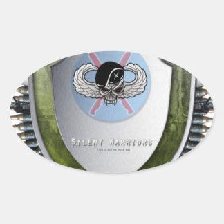 Silent Warriors Mouse mat Oval Sticker