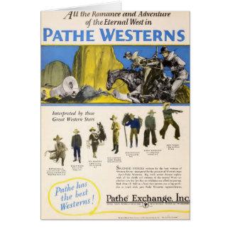 Silent Westerns Leo Maloney 1927 exhibitor ad film Card