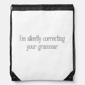 Silently Correcting Your Grammar Backpack