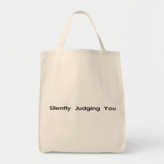 Silently Judging You Canvas Bags