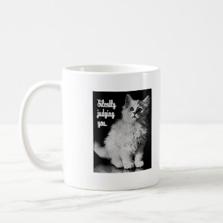 Silently Judging You Kitty Classic White Coffee Mug