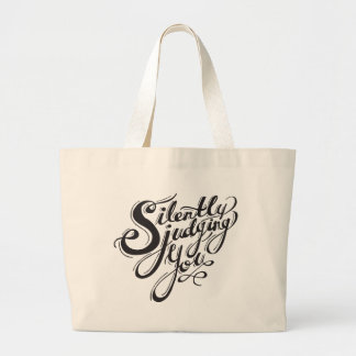 Silently Judging You Large Tote Bag