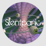 Silentpanic purple sticker