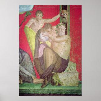 Silenus y el sátiro joven, pared del este posters