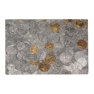 Siler and Gold Treasure. Laminated Placemat
