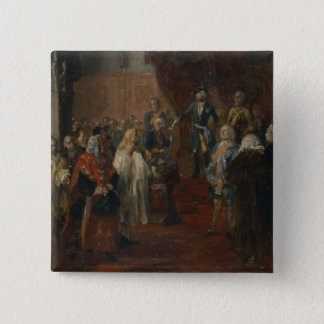 Silesian homage scene, 1855 pinback button