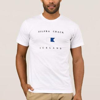 Silfra Crack Iceland Alpha Dive Flag T-Shirt