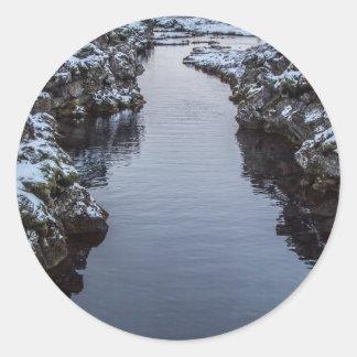 Silfra in Iceland Classic Round Sticker