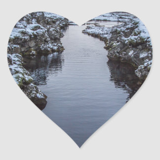 Silfra in Iceland Heart Sticker
