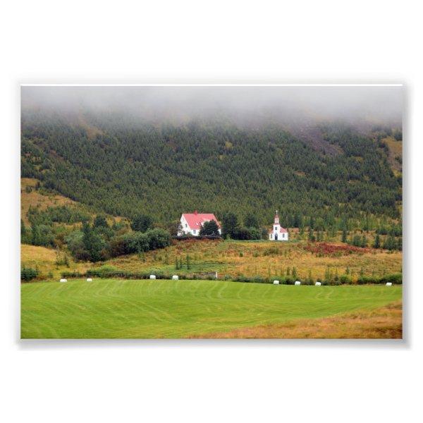 Silfrastadakirkja Church in Iceland Photo Print