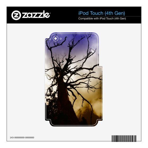 Silhouetee del árbol sin las hojas iPod touch 4G skin