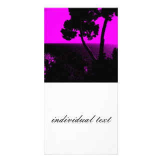 Silhouette 01 pink photo card
