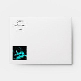 Silhouette 02 aqua envelopes
