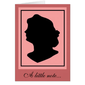 Silhouette 2 stationery note card