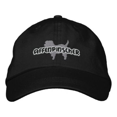 Silhouette Affenpinscher Embroidered Hat Embroidered Baseball Cap