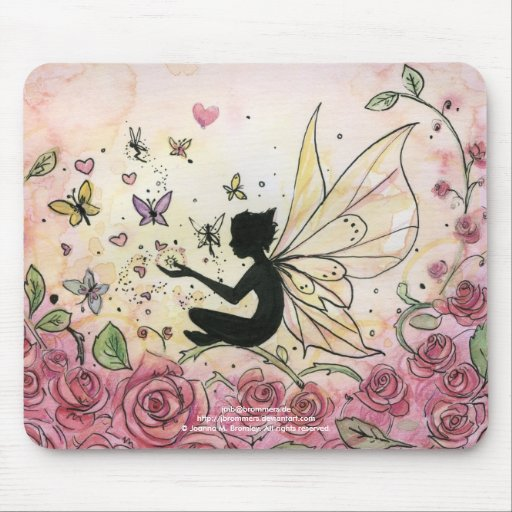 Silhouette and Roses Mouse Pad