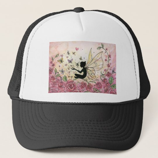 Silhouette and Roses Trucker Hat