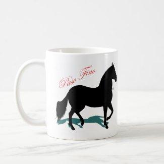 Silhouette and Shadow Paso Fino mug