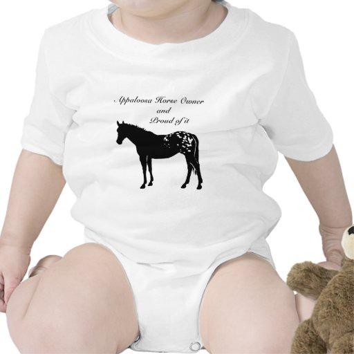 Silhouette Appaloosa Horse Baby Creeper