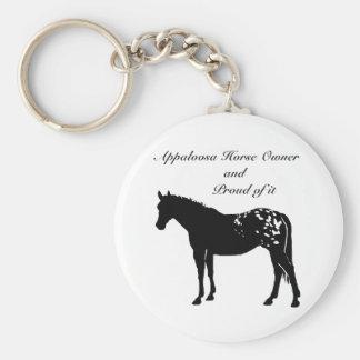 Silhouette Appaloosa Horse Keychains