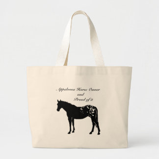 Silhouette Appaloosa Horse Large Tote Bag