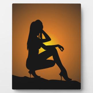 Silhouette ate sunset plaque