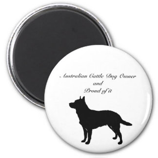Silhouette Australian Cattle Dog Refrigerator Magnets