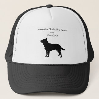 Silhouette Australian Cattle Dog Trucker Hat