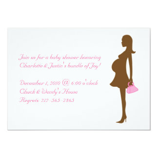 silhouette; baby shower 5x7 paper invitation card