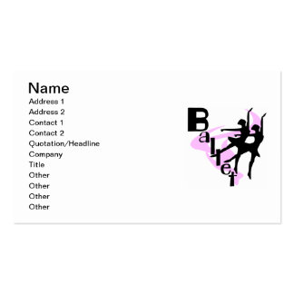 Silhouette Ballet T-shirts and Gifts Business Card
