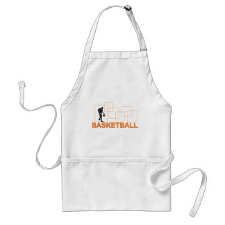 Silhouette Basketball T-shirts and Gifts Adult Apron