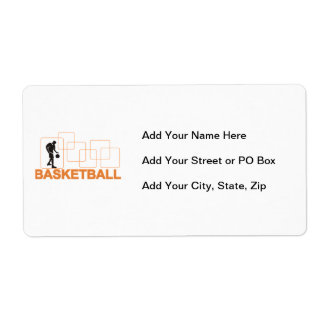 Silhouette Basketball T-shirts and Gifts Shipping Label