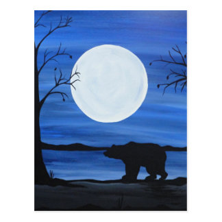 Silhouette Bear Postcard