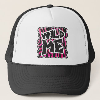 Silhouette Black and Hot Pink Zebra Trucker Hat