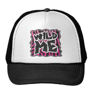 Silhouette Black and Hot Pink Zebra Trucker Hat