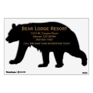 Silhouette Black Bear Wall Art Advertising Wall Sticker