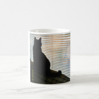 Silhouette Black Cat Mug