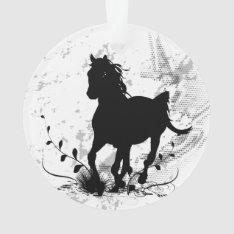 Silhouette, Black Horse Ornament at Zazzle