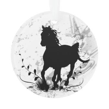 stylishdesign1 Silhouette, black horse ornament