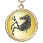 Silhouette Black on Gold 2014 Year of the Horse Custom Jewelry