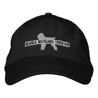 Silhouette Black Russian Terrier Embroidery Hat