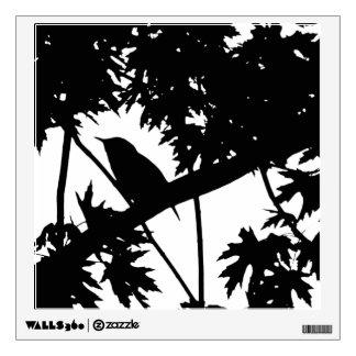 Silhouette Black & White house Wren in Maple Tree Room Graphics