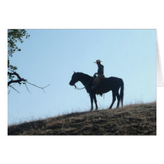 Silhouette - Blank Greeting Card