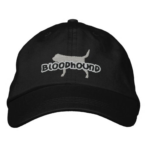 Silhouette Bloodhound Embroidered Hat