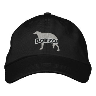 Silhouette Borzoi Embroidered Hat